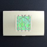 Art Deco Fan Business Card Case