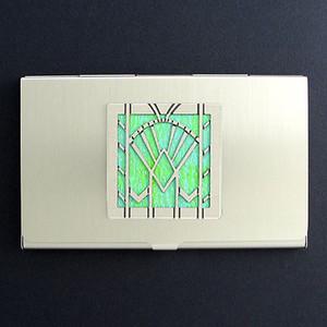 Art Deco Fan Business Card Case