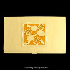 Lemon Business Card Holders