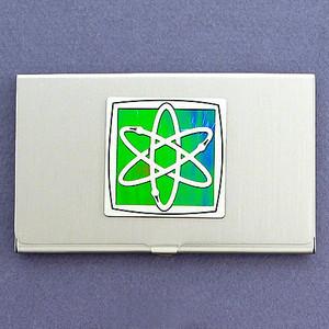Nuclear Atom Business Card Holder