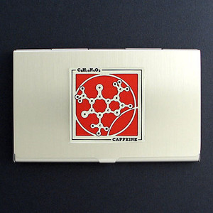 Caffeine Molecule Business Card Cases