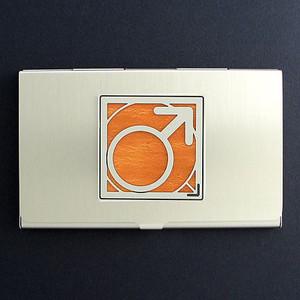 Male Symbol Business Card Case