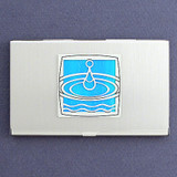 Water Drop Business Card Holder