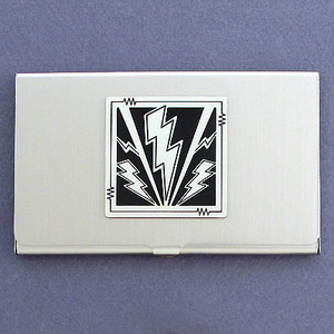 Lightning Bolt Business Card Case