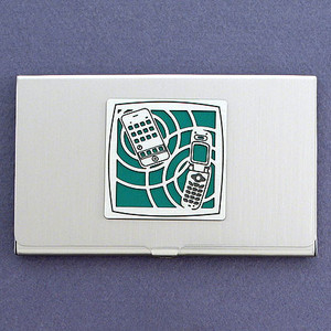 Cell Phone Business Card Case