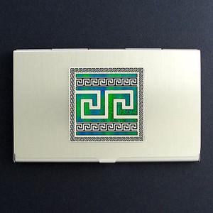 Greek Key Business Card Case