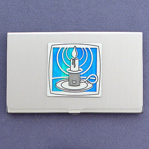 Burning Candle Business Card Case
