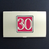 Number 30 Business Card Case