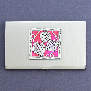 Strawberry Business Card Case