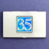 Number 35 Business Card Case