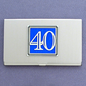 Number Forty Business Card Case