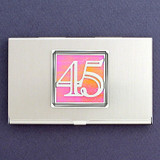 Number 45 Business Card Case