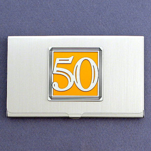 Number 50 Business Card Case
