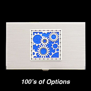 Gears Business Card Case