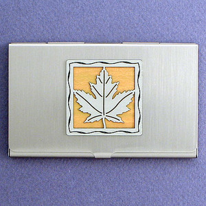 Maple Leaf Business Card Case