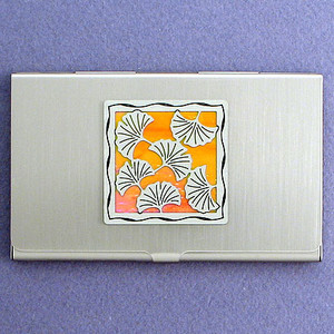 Ginkgo Leaves Business Card Holder