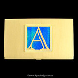 Monogrammed Initial A Business Card Case