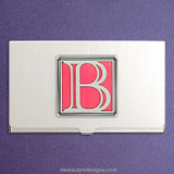 Monogrammed Letter B Business Card Cases