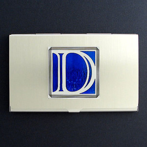 Monogrammed Letter D Metal Business Card Case