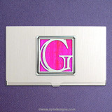 Monogrammed Letter G Business Card Case