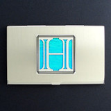 Monogrammed Letter H Metal Business Card Holders