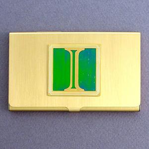 Monogrammed Letter I Business Card Holders