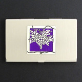 Wine Grapes Business Card Case