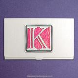 Monogrammed Letter K Business Card Holder