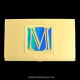 Monogrammed Letter M Business Card Case