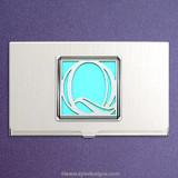 Monogrammed Letter Q Business Card Holders