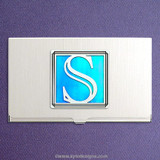 Monogrammed Letter S Business Card Cases