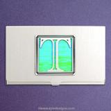 Monogrammed Letter T Business Card Case