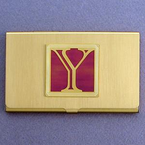 Monogrammed Letter Y Metal Business Card Cases
