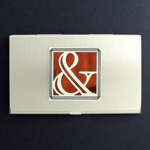 Ampersand Symbol Business Card Case