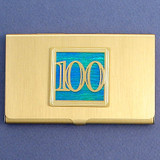 Number 100 Business Card Case