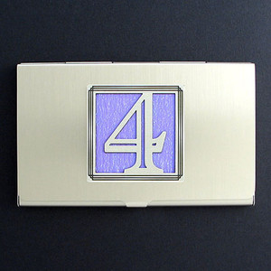 Lucky Number 4 Business Card Case