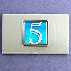 Number 5 Business Card Case