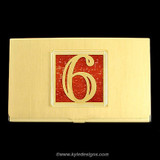 Lucky Number 6 Business Card Case