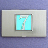 Number 7 Business Card Case