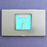 Number 7 Business Card Case