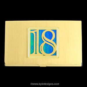 Lucky Number 18 Business Card Cases