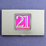 Number 21 Business Card Case