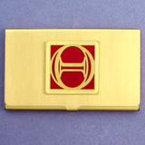 Greek Letter Theta Business Card Holders