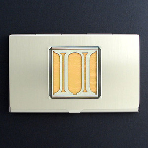Greek Letter Pi Business Card Holder