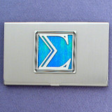 Greek Letter Sigma Business Card Holder