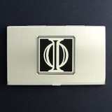 Greek Letter Phi Business Card Holder