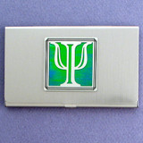 Greek Letter Psi Business Card Holder