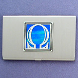 Greek Letter Omega Business Card Holders