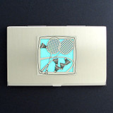Badminton Business Card Case