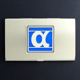 Alpha Greek Letter Business Card Case